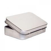 Подарочная коробка Apexto Box без окна, металл, со створкой, 110x89x22мм