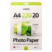 Бумага A4 VIDEX глянцевая двусторонняя 220 г/м, 20 листов (GGA4-220/20)