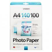 Бумага A4 VIDEX матовая двусторонняя 140 г/м, 100 листов (MMA4-140/100)