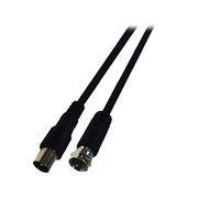 Кабель антенный TV (М) -> F (M), 5 м, 75 Ом, черный, 5bites (TV95-050MSM)