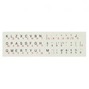 Наклейки на клавиатуру РУС/ЛАТ БЕЛЫЕ