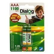 Аккумулятор AAA Dialog HR03/1100-2B 1100мА/ч Ni-Mh, 2шт, блистер
