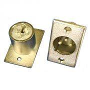 Разъём CANON XLR штекер, металлический, для корпуса, позолоченный, Premier (1-530G)