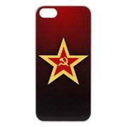 Чехол для iPhone 5/5S, Red Star 3D, Anzo (1955-F289)