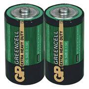 Батарейка D GP Greencell R20/2SH, солевая, 2 шт, термопленка (GP 13G-OS2)