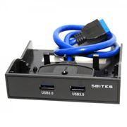 Панель фронтальная 3.5 с 2 портами USB 3.0, пластик, 5bites (FP183P)