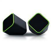 Колонки SmartBuy CUTE, черно-зеленые, питание от USB (SBA-2580)