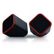 Колонки SmartBuy CUTE, черно-оранжевые, питание от USB (SBA-2590)