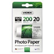 Бумага A6 VIDEX глянцевая 200 г/м, 10x15 см, 20 листов (HGA6-200/20)