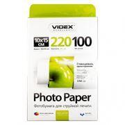 Бумага A6 VIDEX глянцевая 220 г/м, 10x15 см, 100 листов (HGA6-220/100)