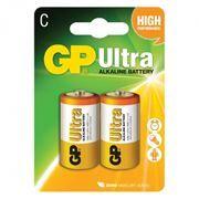 Батарейка C GP Ultra Alkaline LR14, 2 шт, блистер (14AU-CR2)
