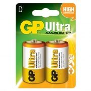 Батарейка D GP Ultra Alkaline LR20, щелочная, 2 шт, блистер (GP 13AU-CR2)