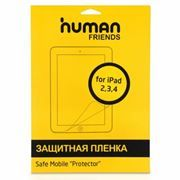 Пленка защитная для iPad2/3/4, 9.7, глянцевая, CBR Human Friends