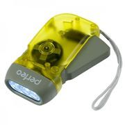 Фонарь Perfeo LT-008 электродинамический, желтый, пластик, светодиодный, 40LM, 1W