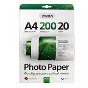 Бумага A4 VIDEX глянцевая 200 г/м, 20 листов (HGA4-200/20)