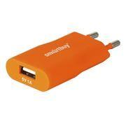 Зарядное устройство SmartBuy SATELLITE, 1A USB, оранжевое (SBP-2600)