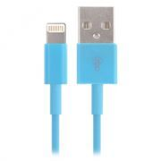 Кабель USB 2.0 Am=>Apple 8 pin Lightning, 1.2 м, голубой, SmartBuy (iK-512c blue)