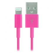 Кабель USB 2.0 Am=>Apple 8 pin Lightning, 1.2 м, розовый, SmartBuy (iK-512c pink)