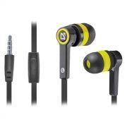 Гарнитура DEFENDER Pulse-420 для мобильных устройств, черно-желтая (63421)