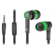 Гарнитура DEFENDER Pulse-420 для мобильных устройств, черно-зеленая (63422)