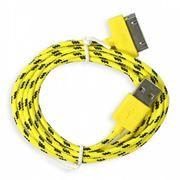 Кабель USB 2.0 Am=>Apple 30 pin, нейлон, 1.2 м, желтый, SmartBuy (iK-412n yellow)