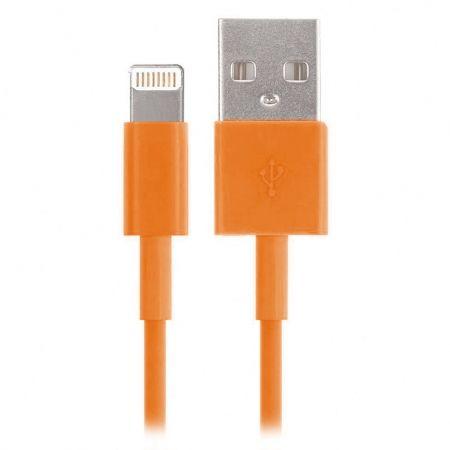 Кабель USB 2.0 Am=>Apple 8 pin Lightning, 1.2 м, оранжевый, SmartBuy (iK-512c orange)