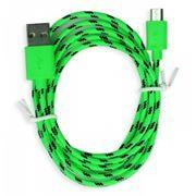 Кабель USB 2.0 Am=>micro B - 1.2 м, нейлон, зеленый, Smartbuy (iK-12n green)