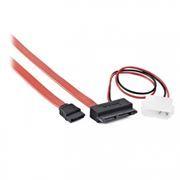 Кабель интерфейсный micro SATA DATA + питание Molex, 45/25 см, Gembird (CC-MSATA-001)