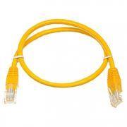 Кабель патч-корд UTP 5е категории 0.5 м, желтый