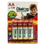 Батарейка AA DIALOG LR6-4B Alkaline, 4 шт, блистер