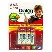 Батарейка AAA DIALOG LR03-4B Alkaline, 4 шт, блистер