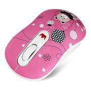 Мышь беспроводная Crown CMM-928W Bear, Pink