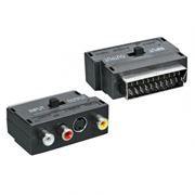 Адаптер SCART-> 3 x RCA + S-Video (тюльпан-гнезда) с переключателем Вход/Выход, Rexant (17-1051)