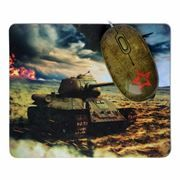 Мышь CBR Tank Battle USB с ковриком