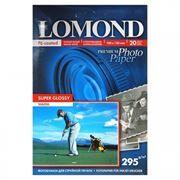 Бумага A6 LOMOND, глянцевая, 295 г/м, 10x15 см, 20 листов, Super Glossy (Warm) (1108103)