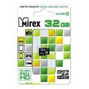 Карта памяти Micro SDHC 32Gb Mirex Class 10 без адаптера (13612-MC10SD32)