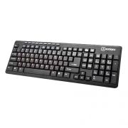 Клавиатура Oxion OKB005BK, черная, USB