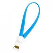 Кабель USB 2.0 Am=>Apple 8 pin Lightning, магнит, 0.2м, голубой, SmartBuy (iK-502m blue)