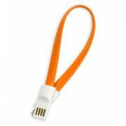 Кабель USB 2.0 Am=>Apple 8 pin Lightning, магнит, 0.2м, оранжевый, SmartBuy (iK-502m orange)