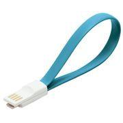 Кабель USB 2.0 Am=>micro B - 0.2 м, магнитный, голубой, SmartBuy (iK-02m blue)