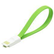 Кабель USB 2.0 Am=>micro B - 0.2 м, магнитный, зеленый, SmartBuy (iK-02m green)