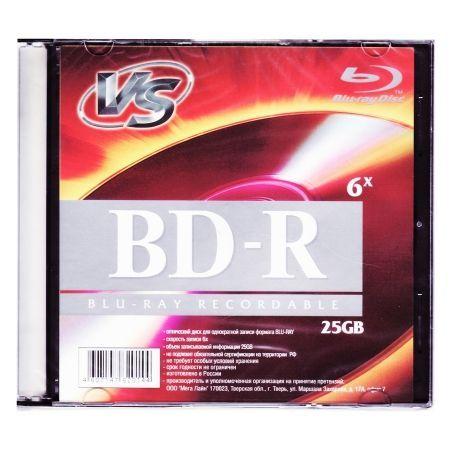 Диск BD-R VS 25 Gb 6x, Slim Case (VSBDR4SL02)