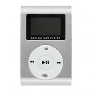 MP3 плеер Perfeo Music Clip Titanium Display, серебристый (VI-M001-Display Silver)