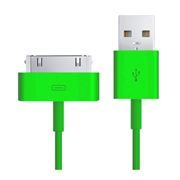 Кабель USB 2.0 Am=>Apple 30 pin, 1.2 м, зеленый, SmartBuy (iK-412c green)