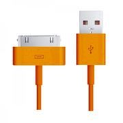 Кабель USB 2.0 Am=>Apple 30 pin, 1.2 м, оранжевый, SmartBuy (iK-412c orange)