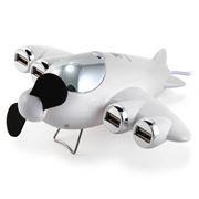 HUB 4-port KONOOS UK-39 USB 2.0 Самолет с вентилятором