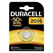 Батарейка CR2016 Duracell, 1 шт, блистер