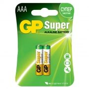 Батарейка AAA GP Super Alkaline LR03, 2 шт, блистер (24A-CR2)