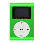 MP3 плеер Perfeo Music Clip Titanium Display, зеленый (VI-M001-Display Green)
