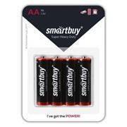 Батарейка AA SmartBuy R6/4B, солевая, 4 шт, блистер (SBBZ-2A04B)